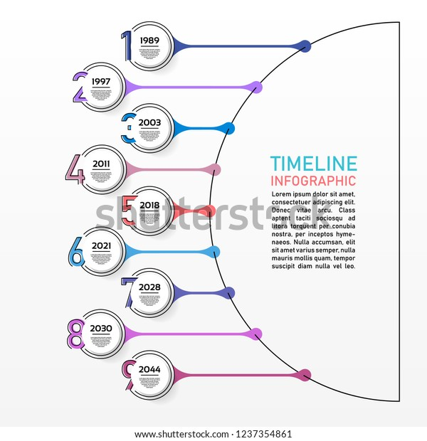 Business Data Visualization Process Chart Abstract Stock