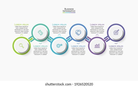 Business data visualization. timeline infographic icons. abstract background template design