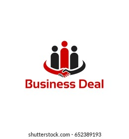 Business Deal Logo concept template designs