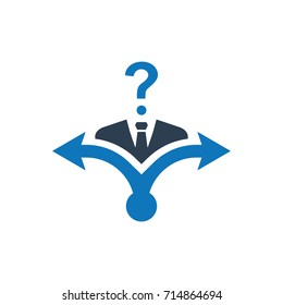 Business Decision Making Confusion Icon