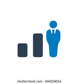 Business Decline Bar Icon