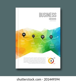 Business design background. Cover book report poster booklet brochure Magazine layout mockup template cover shapes infographic, cover book
