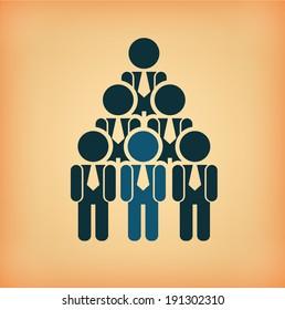 Business design over beige background, vector illustration