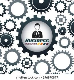 Business design over white background, vector illustration