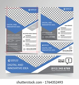 Business design templates of banners and flyers Premium Vector