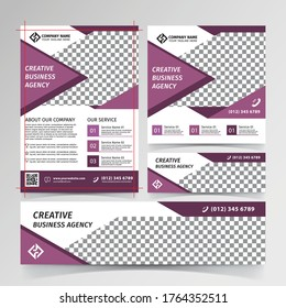 Business design templates banners and flyers