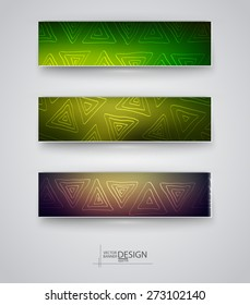 Business design templates. Set of Banners with Multicolored Blurred Backgrounds. Unfocused Abstract Modern Vector Illustration.