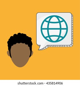 Business design.Communication icon. Colorfull illustration, vect