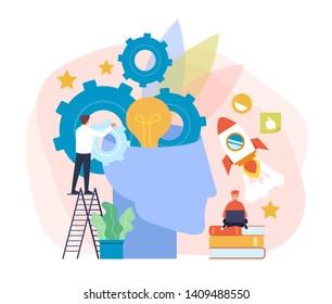 Business development education concept. Vector flat cartoon graphic design illustration
