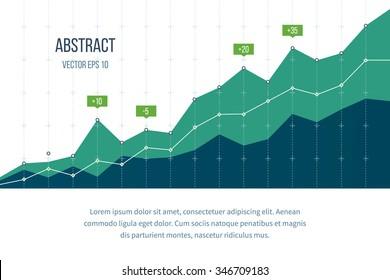 Graphique de diagramme d'entreprise. Croissance des investissements. Affaires d'investissement. Gestion des investissements. Concept de stratégie financière.