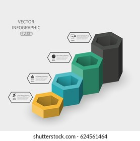 Business diagram stage of development, vector template infographics. Growth sequence of indicators