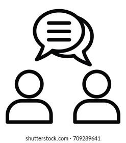 Business Dialogue Vector Icon