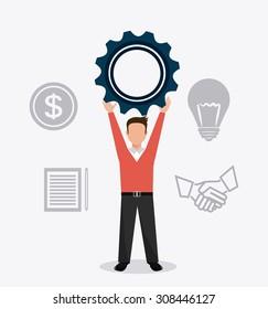 Business digital design, vector illustration, eps 10.