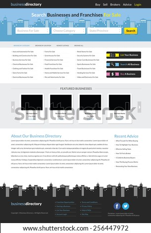 Business directory website template stock vector royalty free business directory website template cheaphphosting Images
