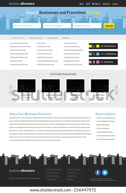 Business Directory Website Template