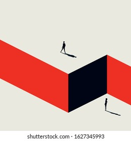Business discrimination based on gender, sex vector concept. Corporate inequality, feminism and emancipation symbol. Eps10 illustration.