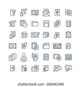 Business documents and papers icons