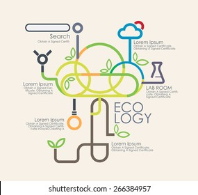 Business eco logy  and infographics.Vector illustrationayout, banner, diagram, web design template