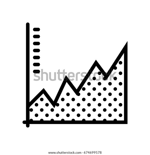 Business Ecommerce Icons Sales Analytics Graph Stock Vector