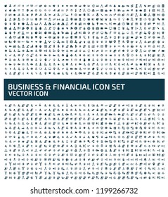 Business and economy vector icon set