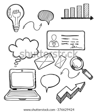 Business Element Drawing Design Flat Chart Stock Vector Royalty