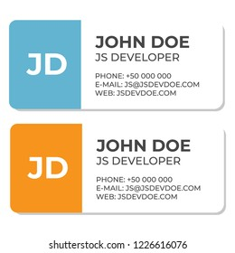 Business e-mail signature template. Email contact vector template