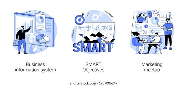 Business enterprise management abstract concept vector illustrations.
