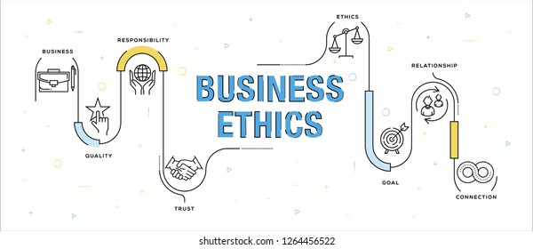BUSINESS ETHICS INFOGRAPHIC CONCEPT