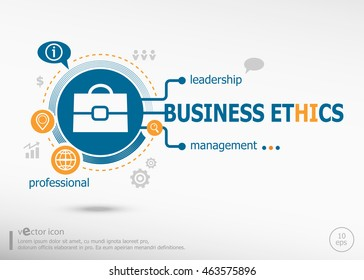 Business ethics and marketing concept. Business ethics concept for creative process.