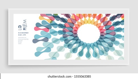 Business event invitation template. Can be used for online courses, master class, seminar, presentation, webinar or lecture. Vector illustration for banner, poster, flyer and magazine page.