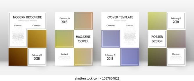 Business fabulous template for Brochure, Annual Report, Magazine, Poster, Corporate Presentation, Portfolio, Flyer. Adorable color transition cover page.