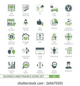 Business and FIinance Icons Set 03