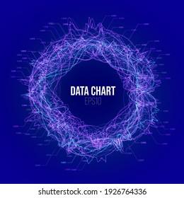 Business finance background. Financial chart. 3d vector. Vector data. Stock vector. Circle graph