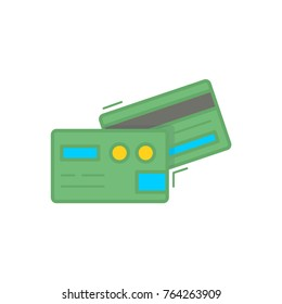 Business Finance Flat Icon Credit Card