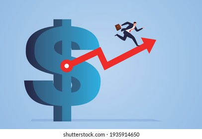Business finance guide, business concept illustrations, development direction of finance and finance