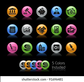 Business & Finance Icon Set  / The file Includes 5 color versions in different layers.