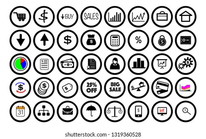 Business and finance icon and symbol
