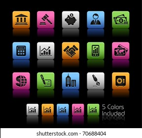 Business & Finance Icons// Color Box -------It includes 5 color versions for each icon in different layers ---------