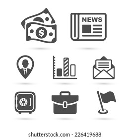 Business finance icons isolated on white set 2. Vector illustration