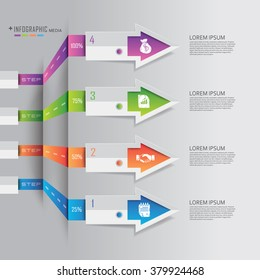 Business finance Info graphics origami style Vector illustration