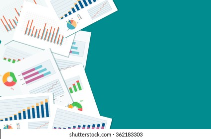 business finance and investment banner and mobile device for business.report paper.graph analyze background.web banner