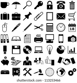 Business - Finance and Office icons collection - vector illustration