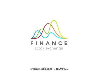 Business Finance Stock Exchange Market Charts Logo design abstract vector template.