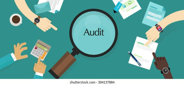 business financial audit auditing tax process
