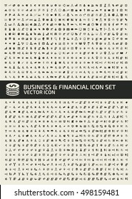 Business and financial icon set,clean vector