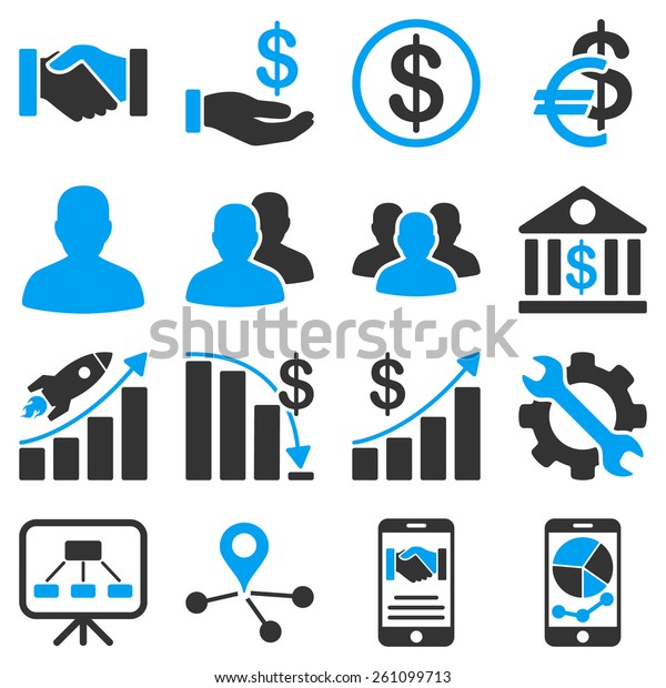 Business Financial Symbols These Commercial Icons Stock