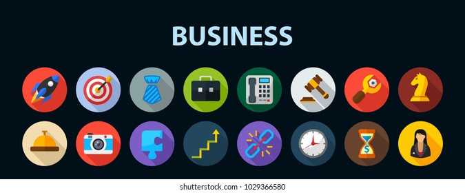 Business flat icon concept. Vector illustration. Element template for design.
