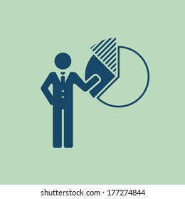 Business Flat Icon. Vector Pictogram. EPS 10.