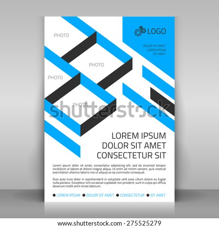 Business flyer design poster template vector stock vector royalty business flyer design poster template vector layout with blue diagonal elements sectors for wajeb Images