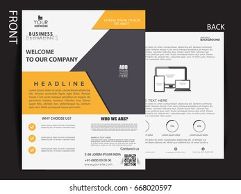 Business flyer ,Business marketing single pager .